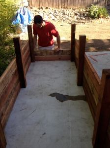 Constructing the planter boxes