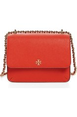 Tory Burch Mini Robinson Convertible Leather Shoulder Bag in Samba