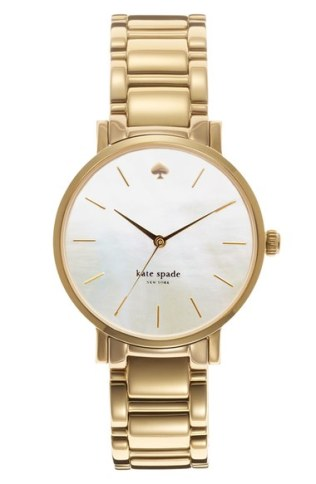 kate spade new york 'gramercy' bracelet watch, 34mm